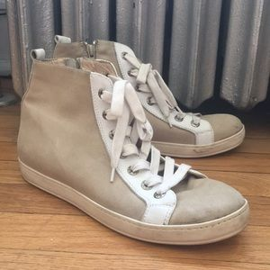 Shoes - SOLD Italian Suede High Top Sneakers